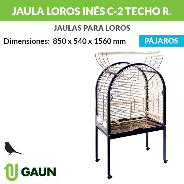 Jaula loros Inés C-2 techo redondo