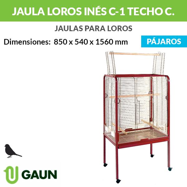 Jaula loros Inés C-1 techo cuadrado