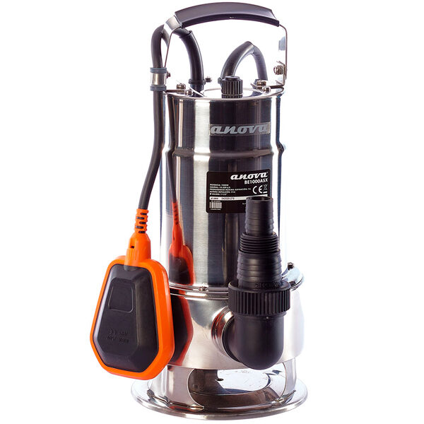 Submersible electric dirty water pump BE1000ASX 1000W 14.500L / h Max lift 11M