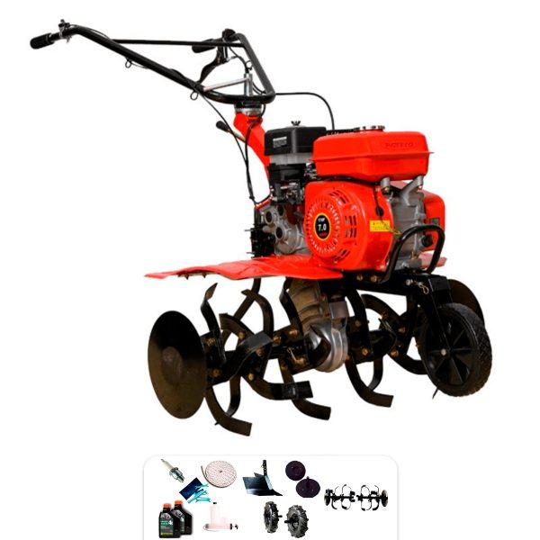 Roteco EUROPA 900 Gartenfräse Roteco Motor + Furche + Räder 400-8 + Geschenke