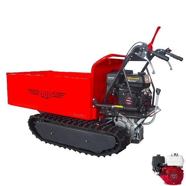 Carretilla oruga BJR SP MINIT 500 HID con Remolque autobasculante hidráulico motor Honda original