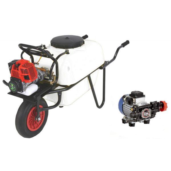 Carretilla sulfatadora 1 rueda 100 litros eléctrica BJR 600 550 W