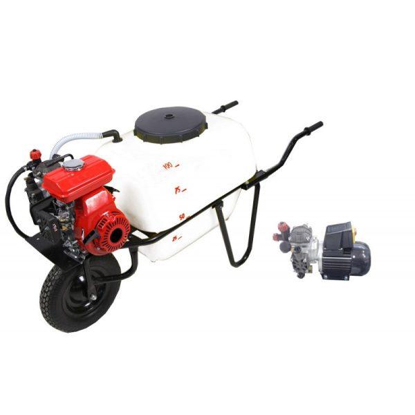 Carretilla sulfatadora 1 rueda 100 litros eléctrica BJR 600M 1 HP
