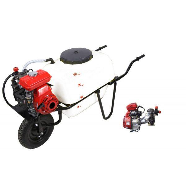 Carretilla sulfatadora 1 rueda 100 litros gasolina BJR 20 98 cc 2,5 HP