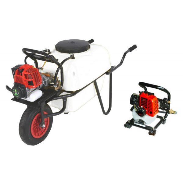 Carretilla sulfatadora 1 rueda 100 litros gasolina BJR 600B 26,3 cc 1,2 cv
