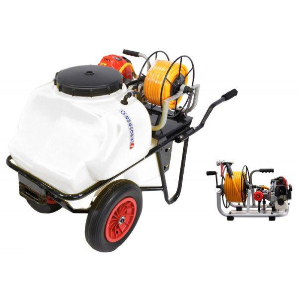 Carretilla sulfatadora 100 litros gasolina 2T BJR 600 RE 26,3 cc 1,2 cv