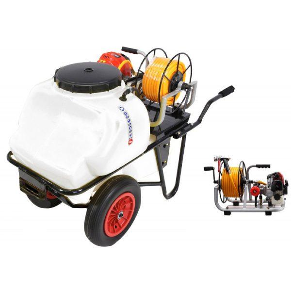 Carretilla sulfatadora 100 litros gasolina 4T BJR 600 B4E 1,2 cv
