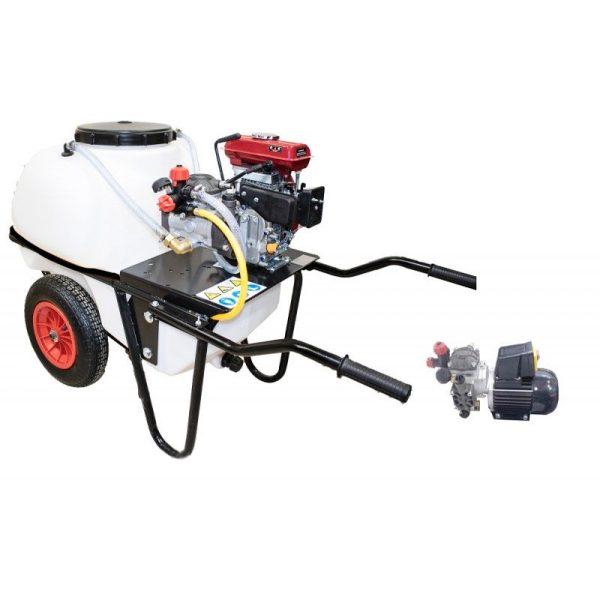 Carretilla sulfatadora 2 ruedas 100 litros eléctrica BJR 20 1 HP
