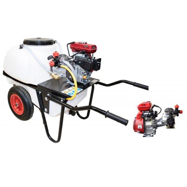 Carretilla sulfatadora 2 ruedas 100 litros gasolina BJR 20 98 cc 2,5 HP