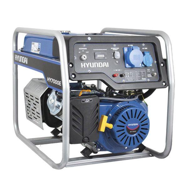 Generador Eléctrico Gasolina Monofásico Hyundai HHY7000FE