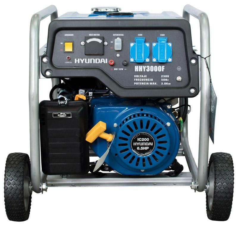 Hyundai HHY3000FK Single Phase Gasoline Generator with wheels