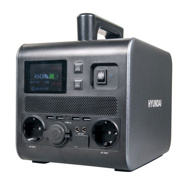 Hyundai HPS-600 Rechargeable Portable Solar Generator