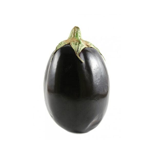 Schwarze runde gepfropfte Auberginenbrühe