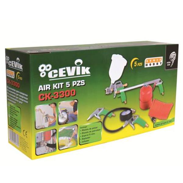Kit de aire de 5 piezas Cevik CA-CK3300