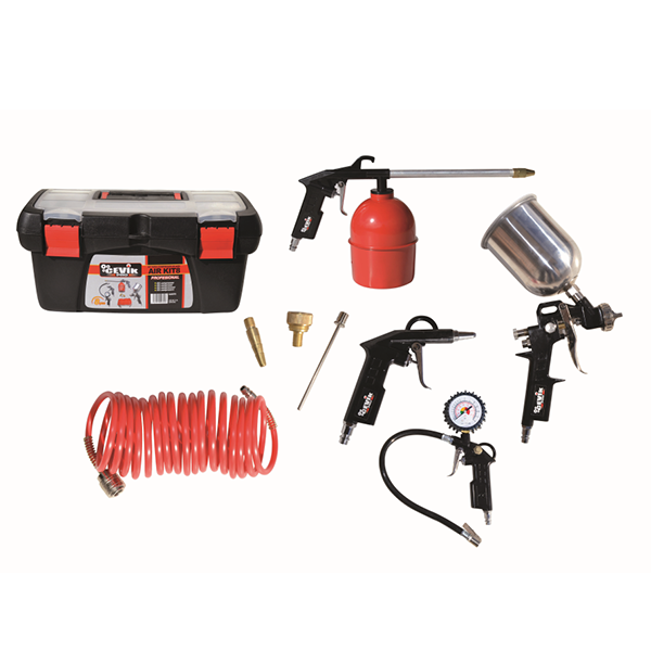 Cevik CAKIT8PRO 8-teiliges Kompressor-Airbrush-Kit