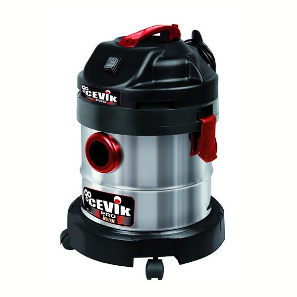 Aspirador eléctrico industrial Cevik CE-PRO20X 1250 W. 20 lt. Contenedor acero inox. Accesorios incluidos