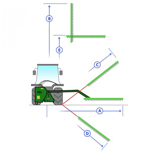 Seitenarm-Heckenschere für GEO ITALY AMD Traktor