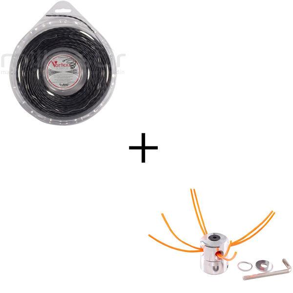 Pack cabezal + nylon vortex de 3,9 Ø 26 m