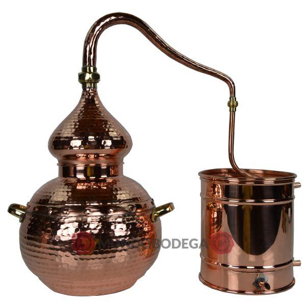 Alambique de cobre clásico remachado 10 L