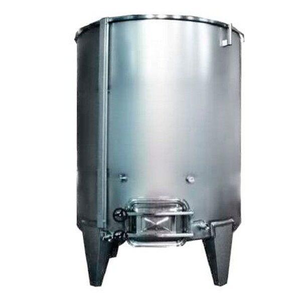 Depósito INOX 304 para vino siempre lleno con fondo plano inclinado con cierre completo de aire