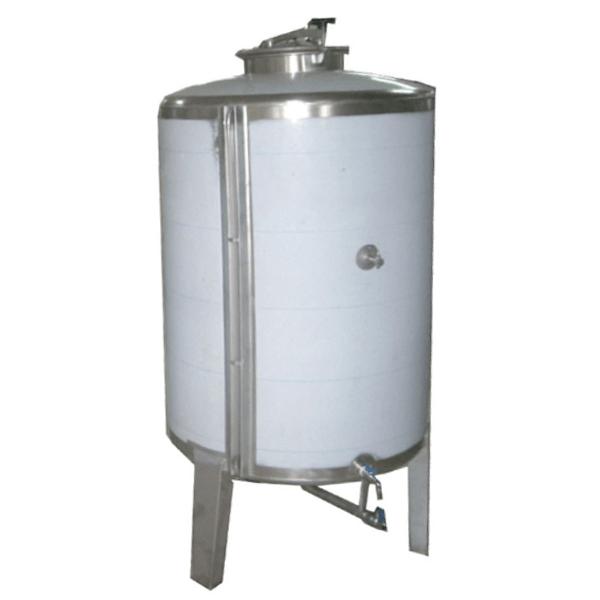 Depósitos de estocaje para vino acero INOX AISI 304 RTK con tapa superior