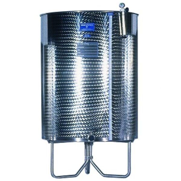 Réservoirs en acier inoxydable AISI 316 RTK, fond et pieds coniques