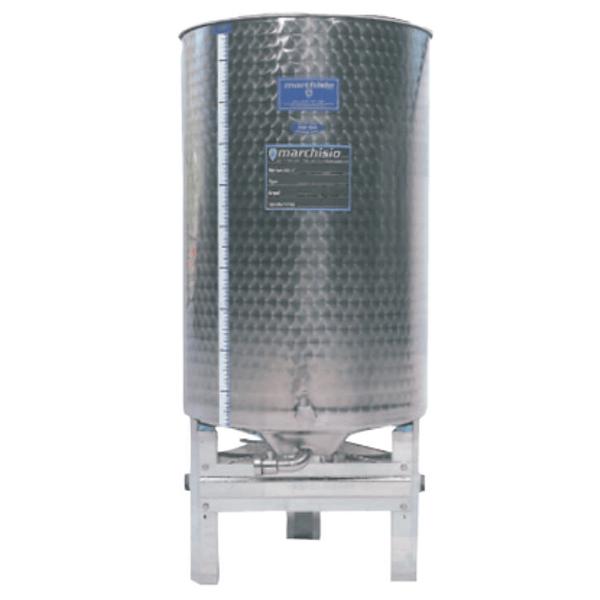 Depósitos de acero inoxidable RTK con fondo abombado y pedestal (AISI 316)