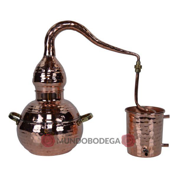 Klassischer kupfernieteter Destillierkolben 1,5 L