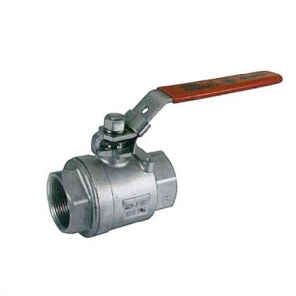 Válvula de esfera para depósitos de vino en acero inoxidable
