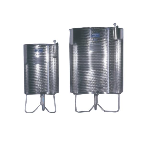 Depósitos para vino acero INOX AISI 316 RTK fondo cónico y patas
