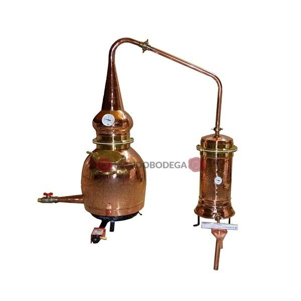Destilería de pruebas 20 litros completa GAS