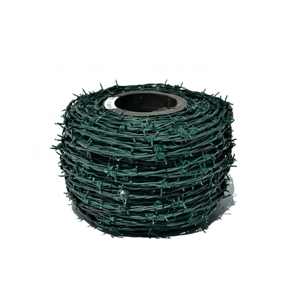 Barbed wire 15 x 12 green 250 mt.