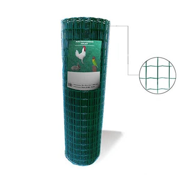 Rollo malla electrosoldada IT-Plast Verde 16 x 16 x 1.2 x 1000 mm