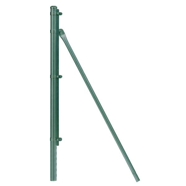 Anlasserspannpfosten Ø 48 mm. x 1,30 mt. für Maschenweite von 1 mt. Grün