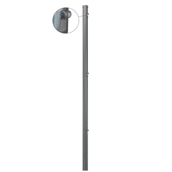 Mittlerer gerader Pfosten Ø 45 mm. x 1,30 mt. für 1 mt mesh. Verzinkt