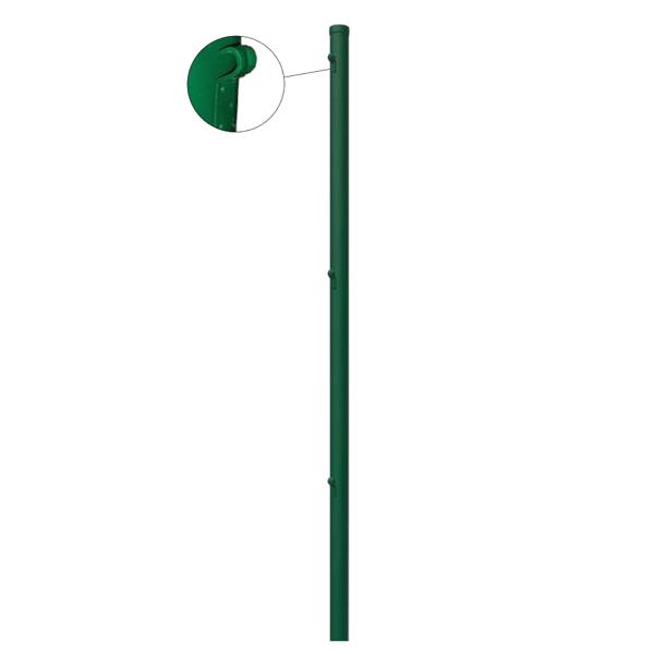 Mittlerer gerader Pfosten Ø 45 mm. x 1,30 mt. für 1 mt mesh. Grün
