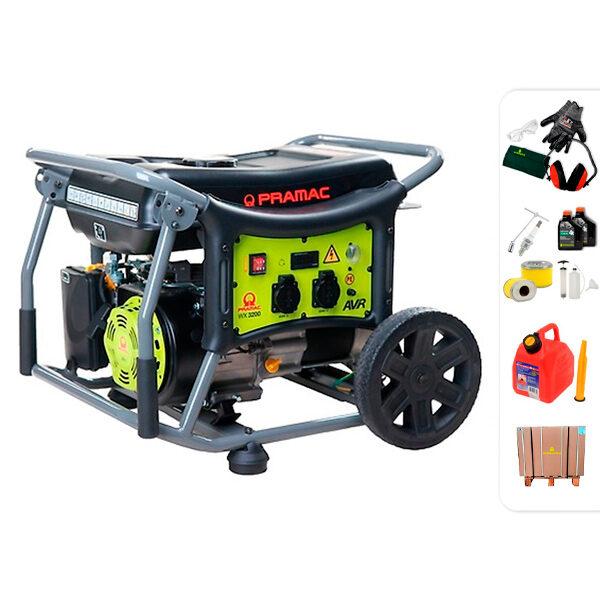 Generador eléctrico monofásico 2,5 kW Pramac WX3200