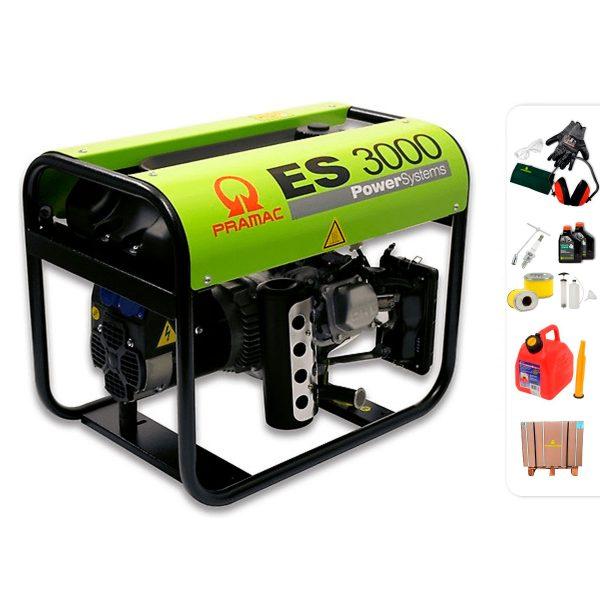 Generador eléctrico monofásico PRAMAC ES3000 con AVR