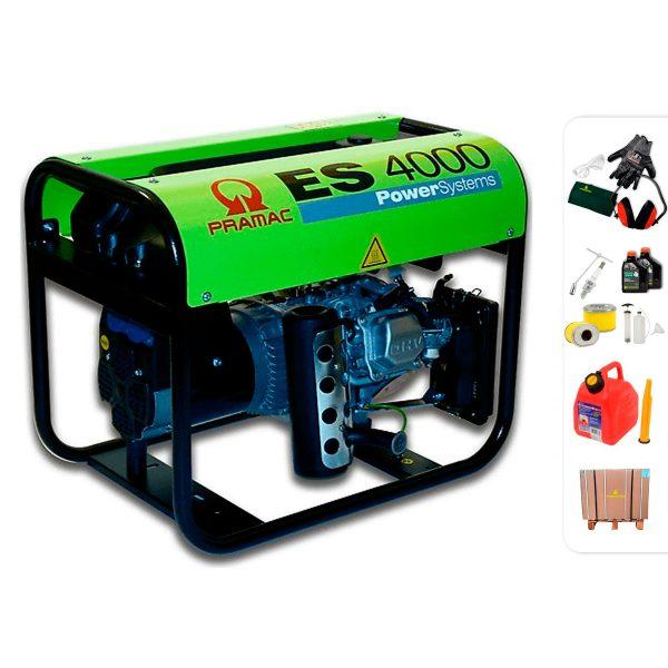 Generador eléctrico monofásico PRAMAC ES4000 con AVR