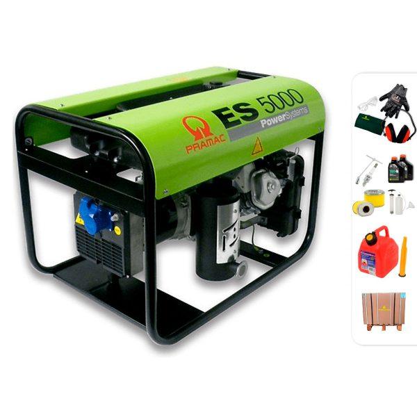 Generador eléctrico monofásico PRAMAC ES5000 con AVR