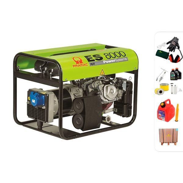 Generador eléctrico monofásico PRAMAC ES8000 con AVR