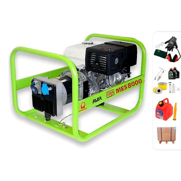 Generador eléctrico monofásico PRAMAC MES8000 con AVR