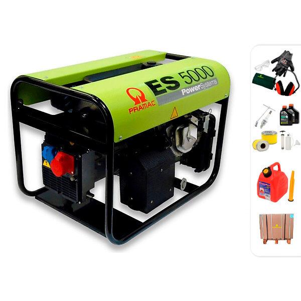 Generador eléctrico trifásico PRAMAC ES5000 con AVR