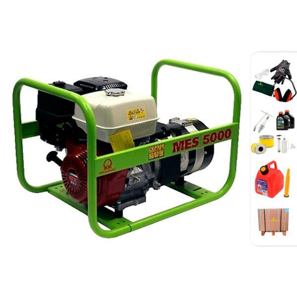 Generador eléctrico trifásico PRAMAC MES5000 con AVR