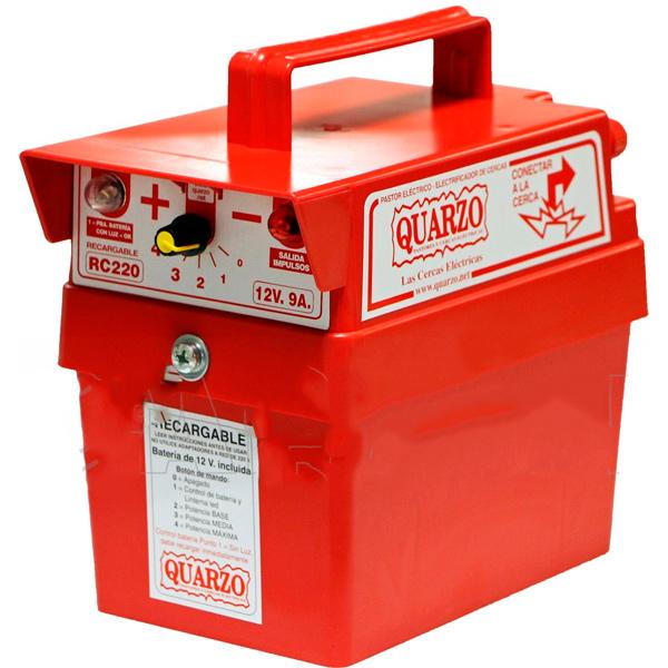 Pastor eléctrico a batería recargable BJR-ORK Quarzo RC220 - 12 V - 9 Ah - 8 km