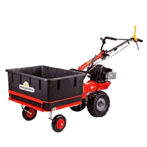 Chariot de transport pour Cajon LDPE 160 litres - 100 Kg avec plateforme en tôle - P70 EVO