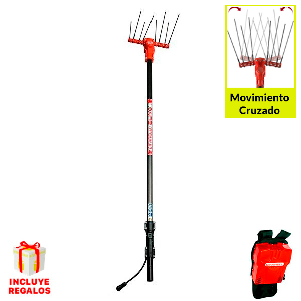 Vareadora de aceitunas Cifarelli Elivo SB100T2 Kit 2