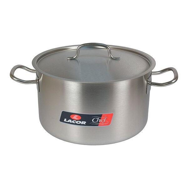Cacerola alta de acero inoxidable Chef