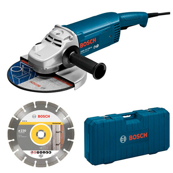 Amoladora Bosch GWS 22-230 JH con maletin y disco