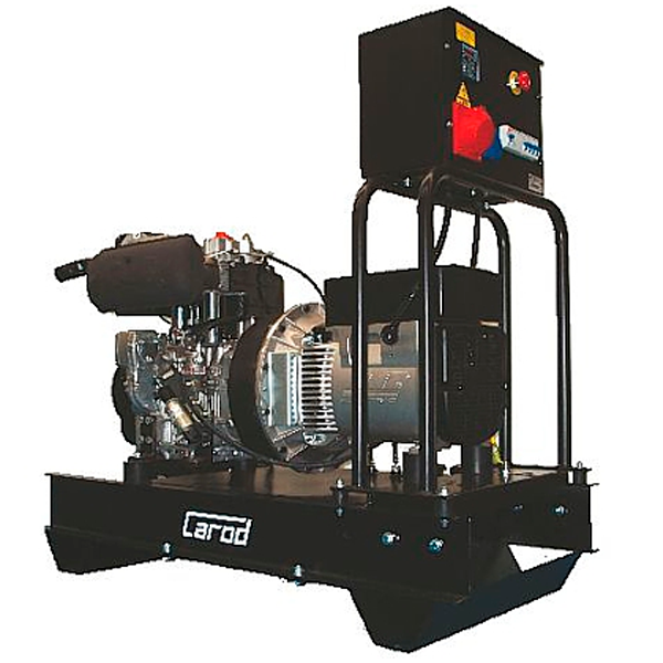 Single-phase Electric Generator Carod CTLD-11L with LOMBARDINI 9D LD 625/2-L Diesel engine